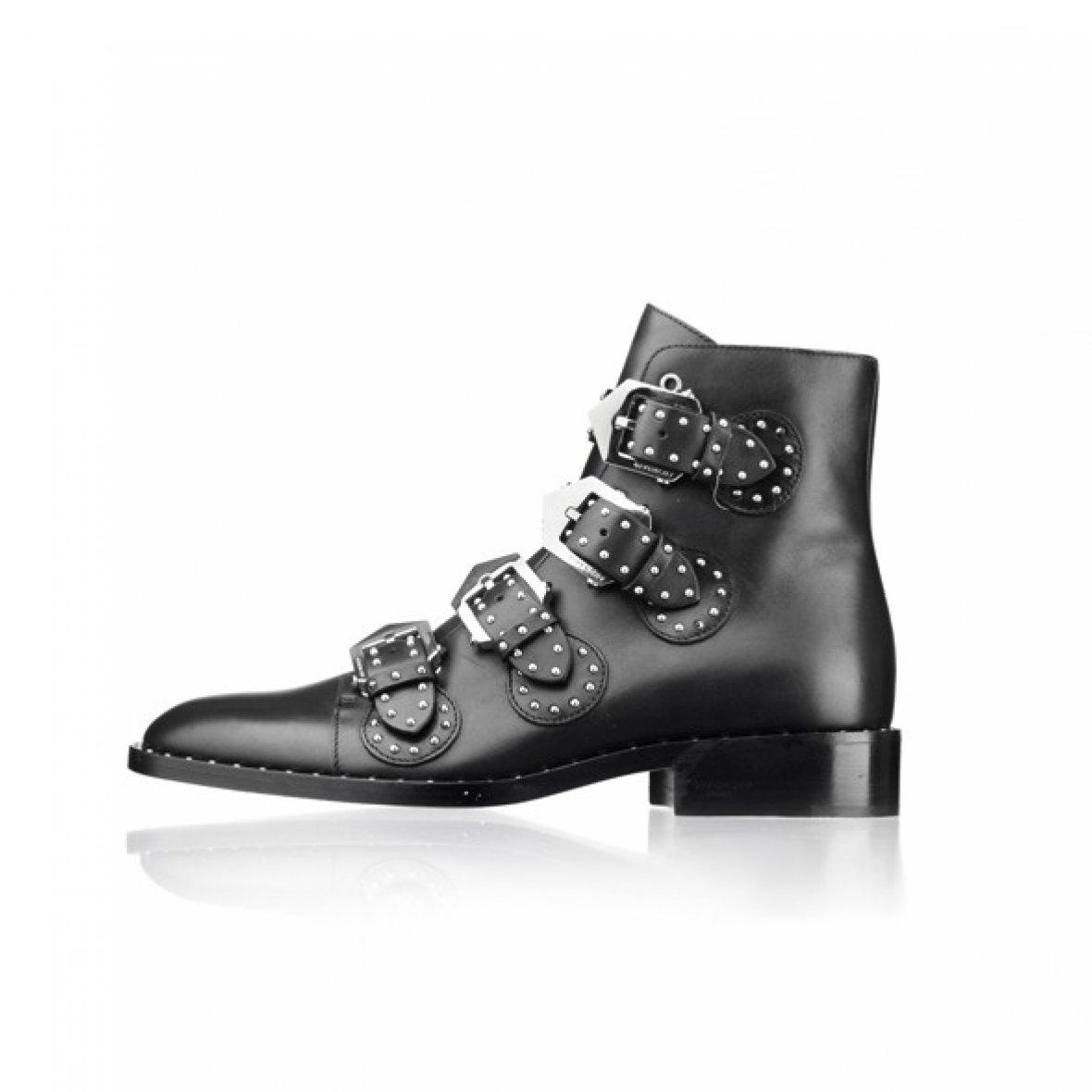 givenchy støvler sort læder